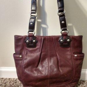 Tignanello Leather Handbag- Wine Colored- NWOT.